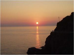 liguria tramonto