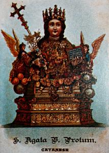 Antica immagine del simulacro di Sant'Agata - Patrona e Martire di Catania