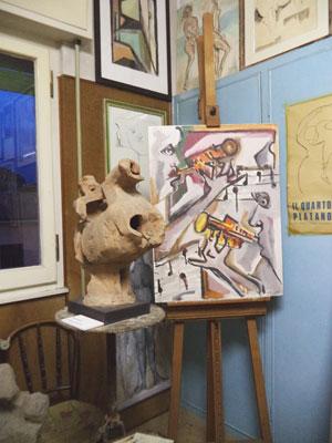 Museo Ugo Guidi, opere nello studio