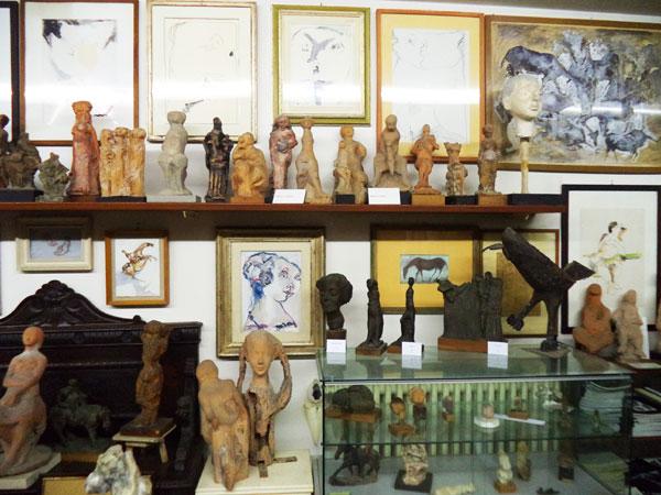 Particolare del Salone del Museo Ugo Guidi