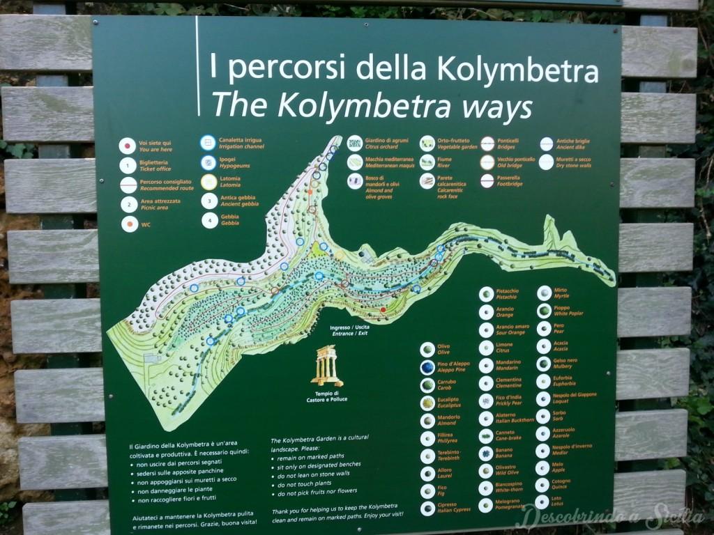 Mappa Giardino Kolymbetra