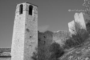 Porzione del castello di Pissignano, Umbria