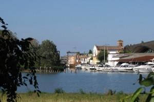 Brondolo, l'antico ingresso del Canale di Valle nella Laguna di Chioggia-Venezia – it.worldmapz.com dd