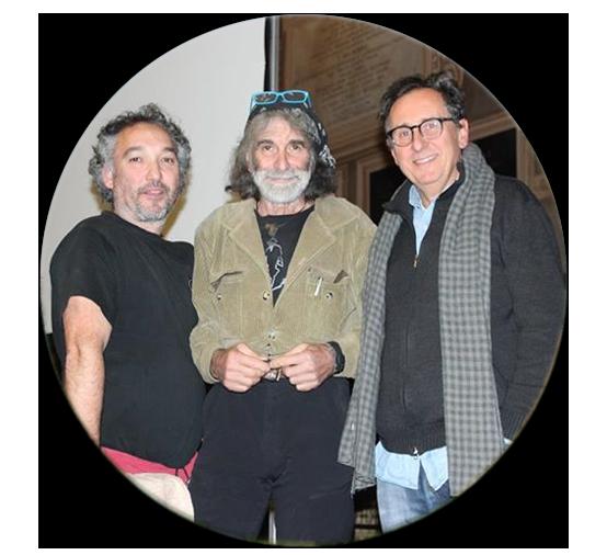 Roberto e Sergio con Mauro Corona (al centro)