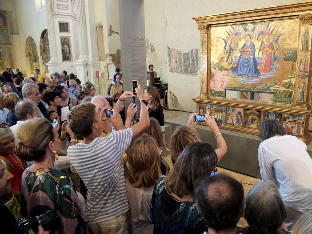 Madonna della Cintola, il giorno dell'inaugurazione