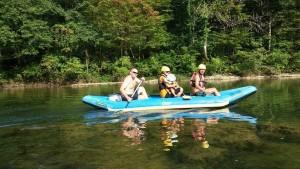 slow rafting in Bela Krajina