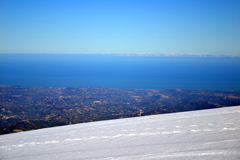 In Abruzzo è possibile sciare vista mare